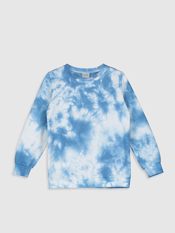 Mavi Erkek Çocuk Batik Desenli Sweatshirt 0SU478Z4 LC Waikiki