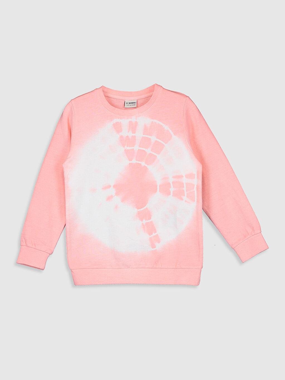 Pembe Erkek Çocuk Batik Desenli Sweatshirt 0SU478Z4 LC Waikiki