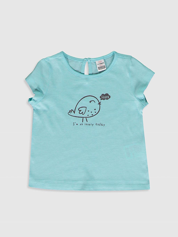 Mavi Kız Bebek Baskılı Tişört 0SU601Z1 LC Waikiki