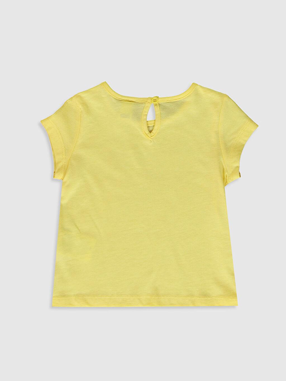 %100 Pamuk %100 Pamuk Tişört Bisiklet Yaka Kısa Kol Düz Kız Bebek Baskılı Tişört