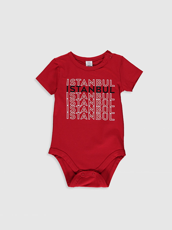 Kırmızı Erkek Bebek Pamuklu Çıtçıtlı Body 0SU698Z1 LC Waikiki