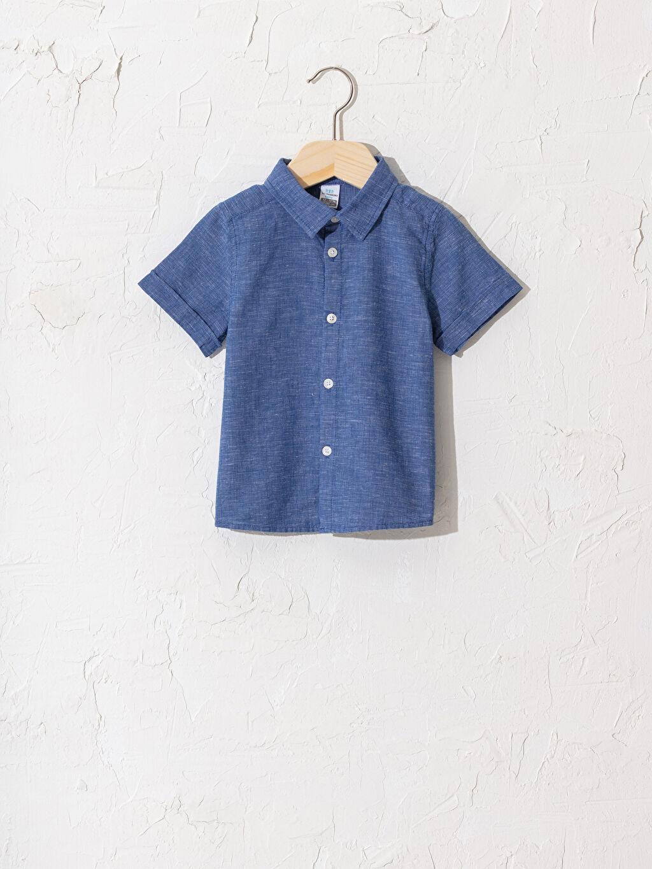 Mavi Erkek Bebek Gömlek 0SU898Z1 LC Waikiki