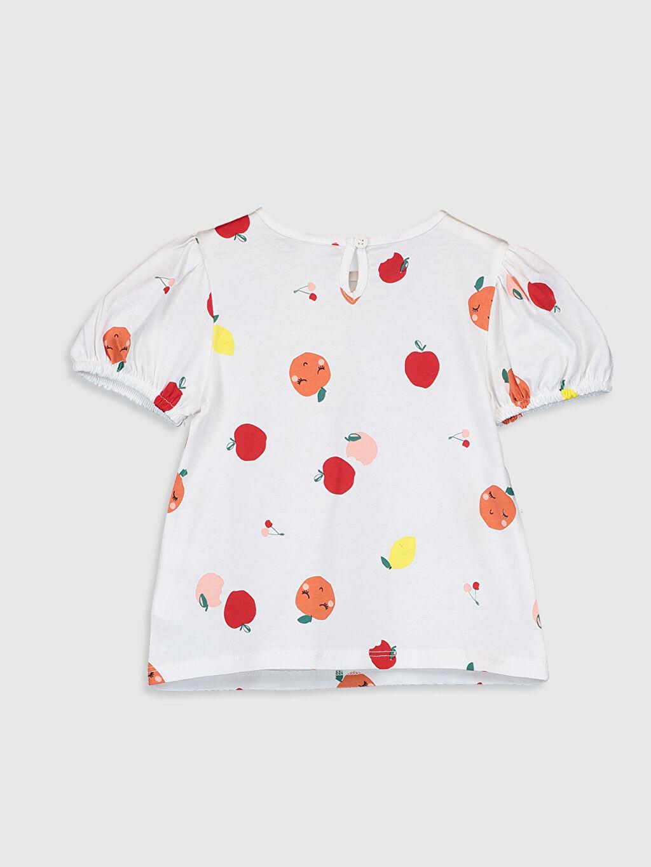 %100 Pamuk A Kesim %100 Pamuk Tişört Casual Kısa Kol Penye Standart Baskılı Bebe Yaka Kız Bebek Baskılı Pamuklu Tişört