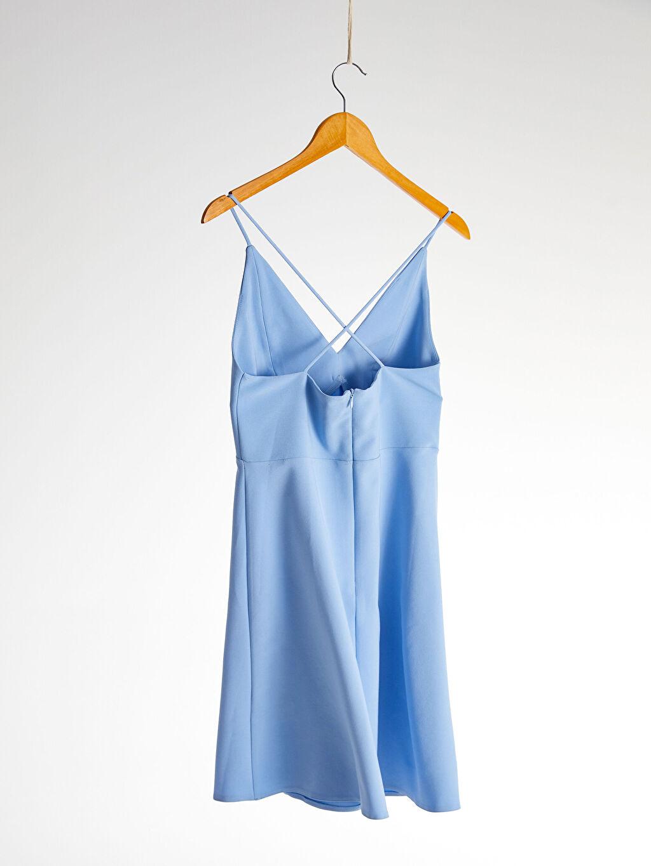 Kadın Appleline Beli Dekolte Detaylı Askılı Elbise