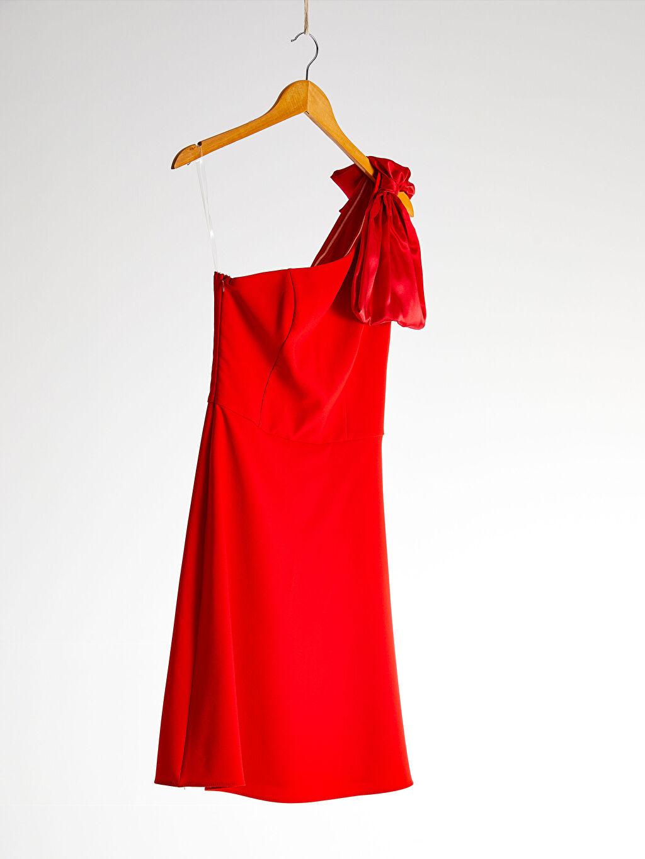 LC Waikiki Kırmızı Appleline Tek Omuz Detaylı Elbise