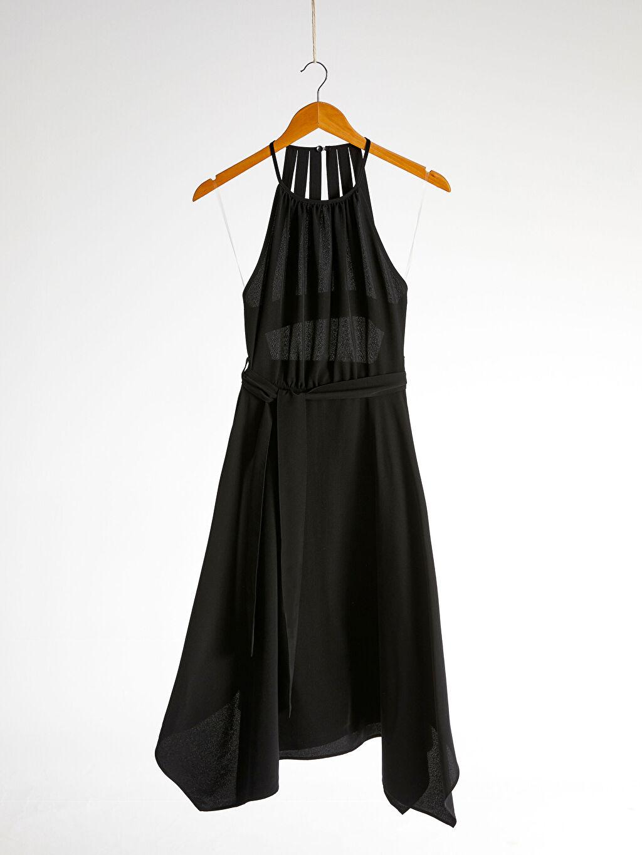 Kadın Halter Yaka Sırt Detaylı Elbise