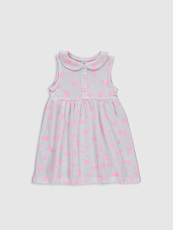 Pembe Kız Bebek Baskılı Pamuklu Elbise 0SV811Z1 LC Waikiki