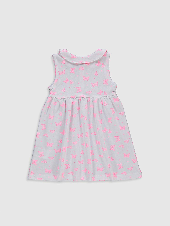 %100 Pamuk Orta Kalınlık Kısa Kol %100 Pamuk Pike Günlük Elbise Standart Baskılı Kız Bebek Baskılı Pamuklu Elbise