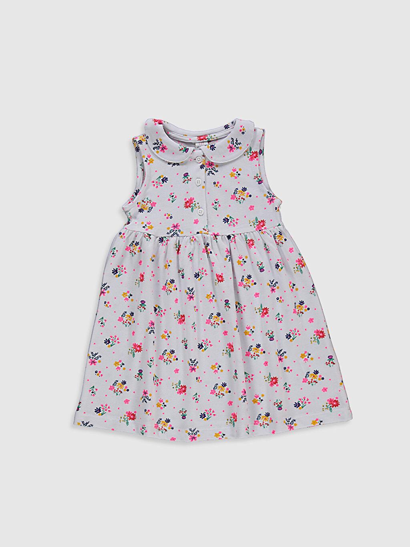 Beyaz Kız Bebek Baskılı Pamuklu Elbise 0SV811Z1 LC Waikiki