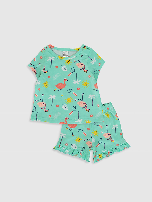 Turkuaz Kız Bebek Pijama Takımı 0SV969Z1 LC Waikiki