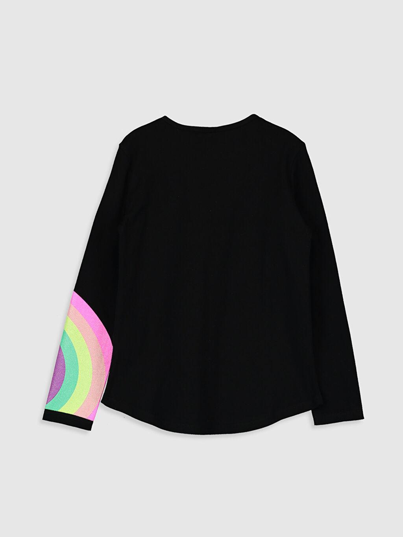 %100 Pamuk %100 Pamuk Standart Baskılı Tişört Bisiklet Yaka Uzun Kol Kız Çocuk Baskılı Pamuklu Tişört