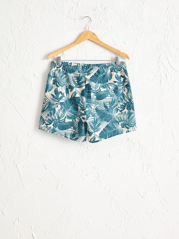 %100 Polyester %100 Polyester Yüzme Şort Kısa Doğa Dostu Kısa Boy Baskılı Standart Kalıp Deniz Şortu
