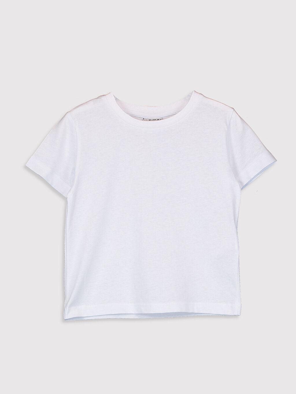 %100 Pamuk %100 Pamuk Standart Tişört Bisiklet Yaka Kısa Kol Düz Erkek Çocuk Pamuklu Basic Tişört