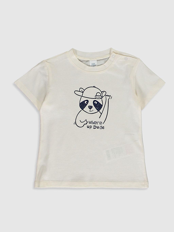 Ekru Erkek Bebek Baskılı Tişört 0SAB59Z1 LC Waikiki