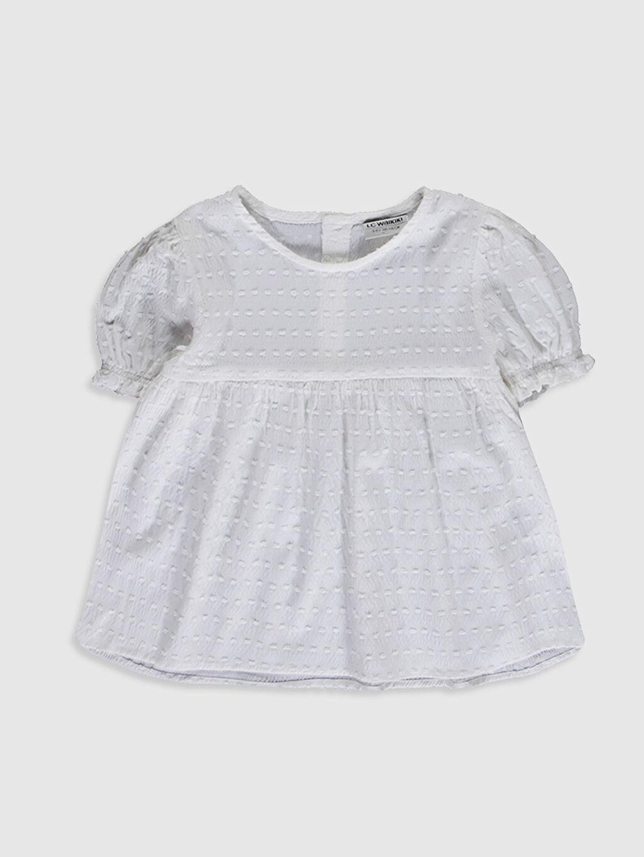 Ekru Kız Çocuk Poplin Bluz 0SAE32Z4 LC Waikiki
