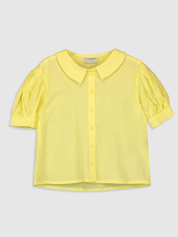 Sarı Kız Çocuk Poplin Gömlek 0SAE33Z4 LC Waikiki