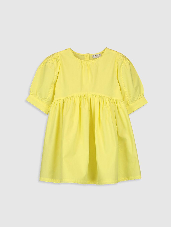 Sarı Kız Çocuk Poplin Elbise 0SAE36Z4 LC Waikiki