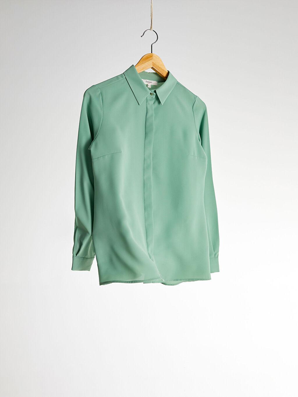 Gömlek Sateen Düz Klasik Gömlek
