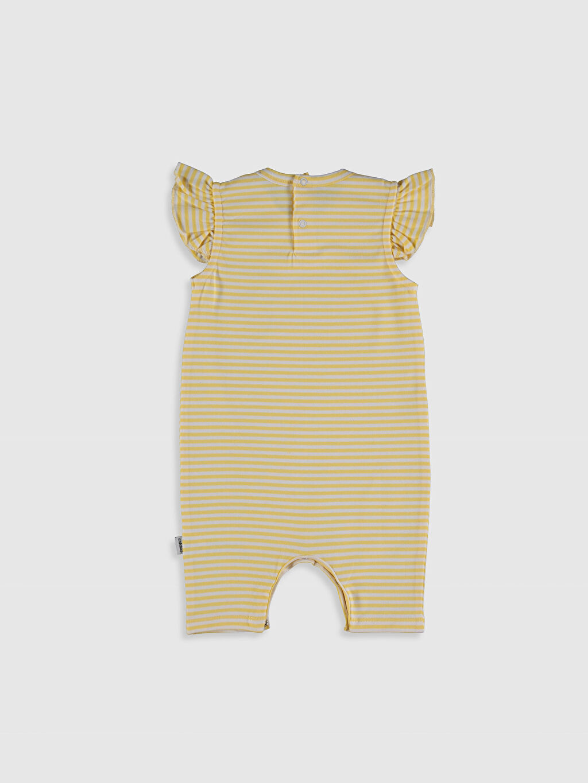 Kız Bebek Antebies Organik Pamuklu Kız Bebek Desenli Patikli Tulum