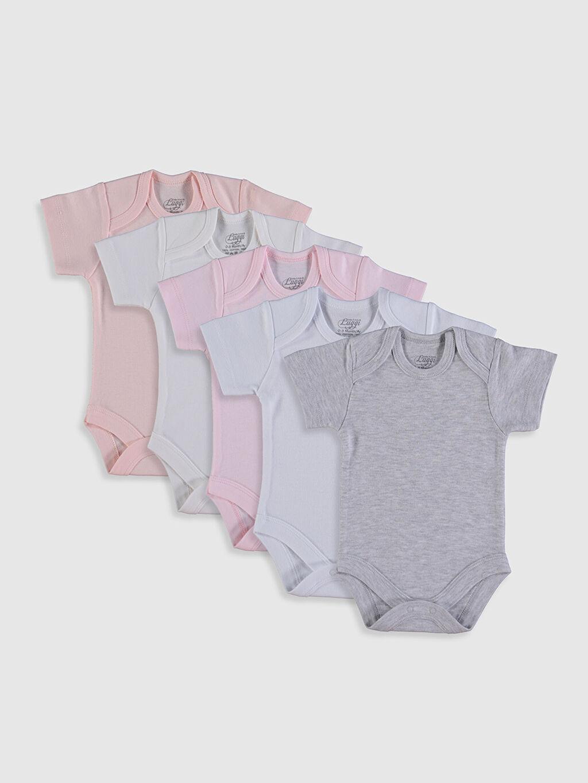 Tişört Luggi Baby Kız Bebek Çıtçıtlı Body 5'li