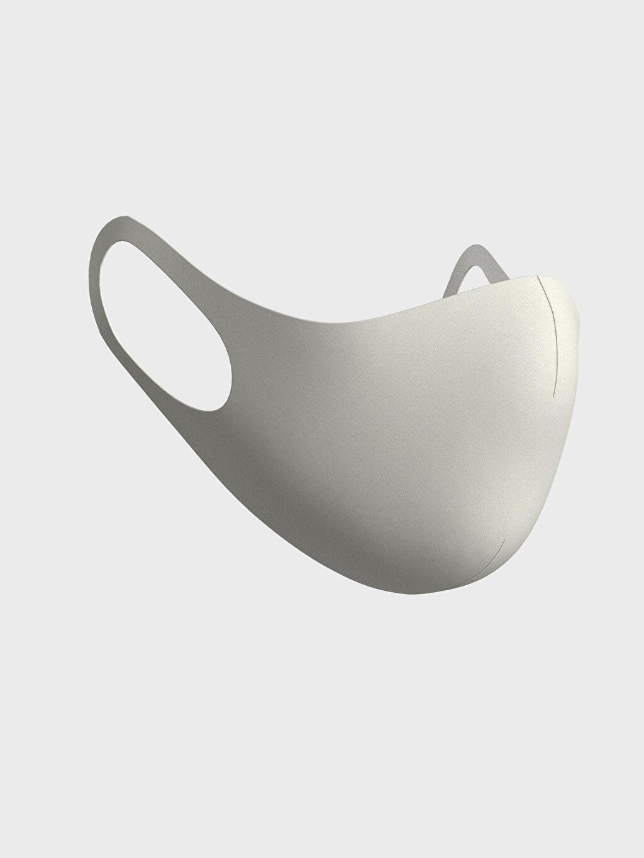 %91 Polyester %9 Elastan Dalgıç Kumaşı Düz Maske Yıkanabilir Yüz Maskesi 2'Li