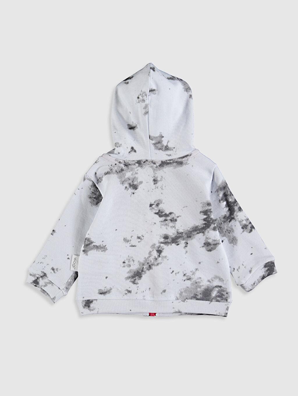 Spor Hırka Erkek Bebek Baskılı Fermuarlı Sweatshirt