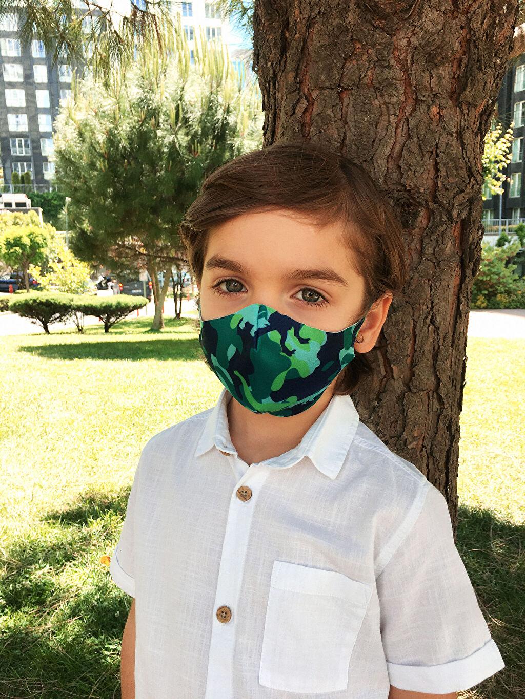 Çok Renkli 8-14 Yaş Erkek Çocuk Yıkanabilir Yüz Maskesi 0SAR30Z4 LC Waikiki
