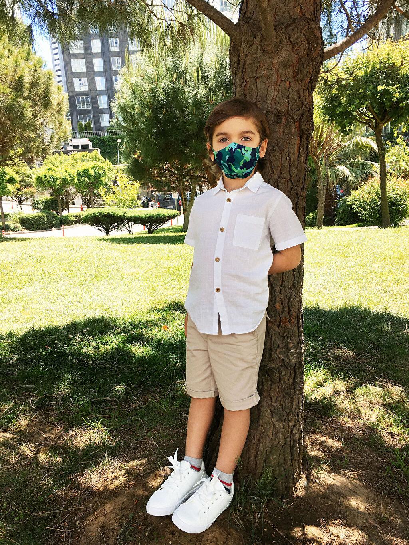 %93 Polyester %7 Elastan Maske Dalgıç Kumaşı 8-14 Yaş Erkek Çocuk Yıkanabilir Yüz Maskesi