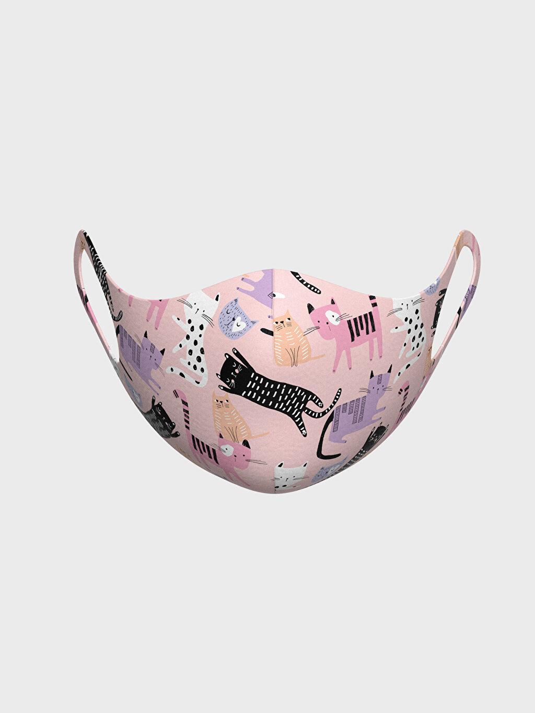 %91 Polyester %9 Elastan Baskılı Dalgıç Kumaşı Maske 8-14 Yaş Kız Çocuk Yıkanabilir Yüz Maskesi