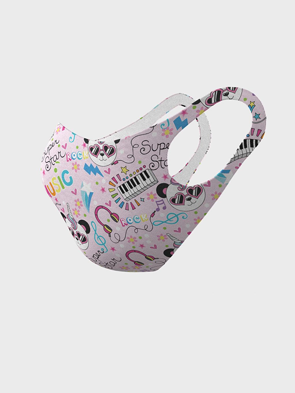 %91 Polyester %9 Elastan Dalgıç Kumaşı Maske 8-14 Yaş Kız Çocuk Yıkanabilir Yüz Maskesi
