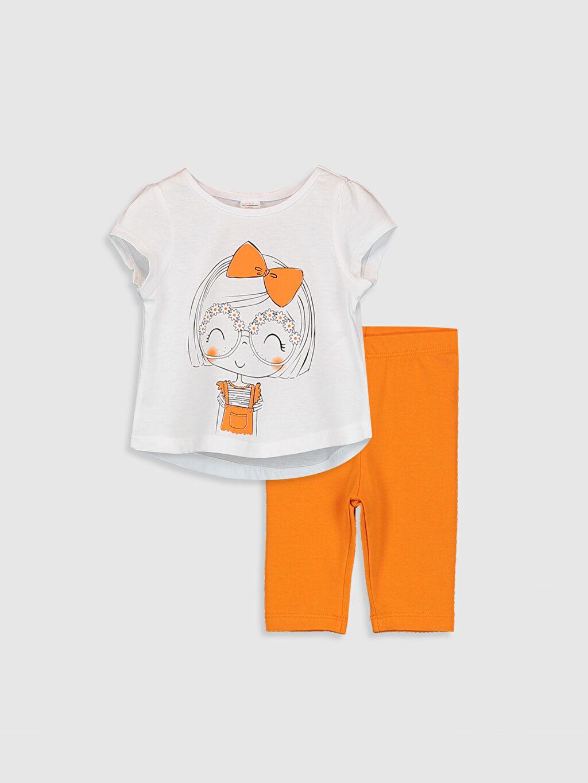 Beyaz Kız Bebek Tişört Ve Tayt 0SAU67Z1 LC Waikiki