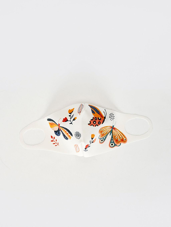 Beyaz 8-14 Yaş Kız Çocuk Yıkanabilir Yüz Maskesi 0SBA23Z4 LC Waikiki