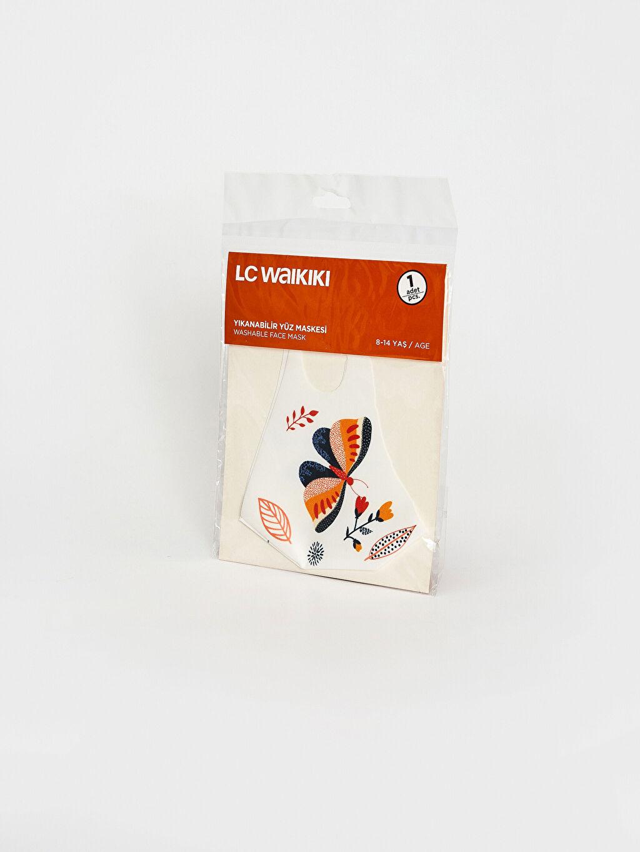 %95 Polyester %5 Elastan Standart Maske Dalgıç Kumaşı Standart 8-14 Yaş Kız Çocuk Yıkanabilir Yüz Maskesi