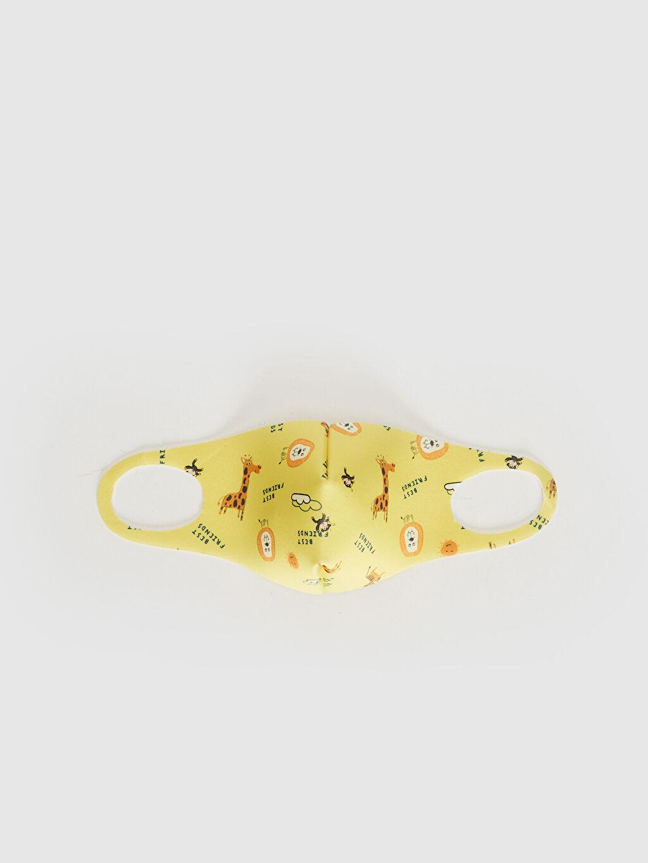 Sarı 2-8 Yaş Erkek Çocuk Yıkanabilir Yüz Maskesi 0SBC39Z1 LC Waikiki