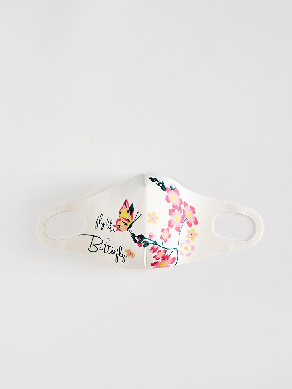 Beyaz 8-14 Yaş Kız Çocuk Yıkanabilir Yüz Maskesi 0SBL73Z4 LC Waikiki