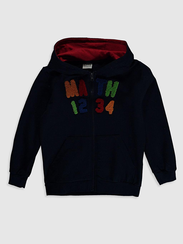 Lacivert Erkek Çocuk Fermuarlı Kapüşonlu Sweatshirt 0W1602Z4 LC Waikiki