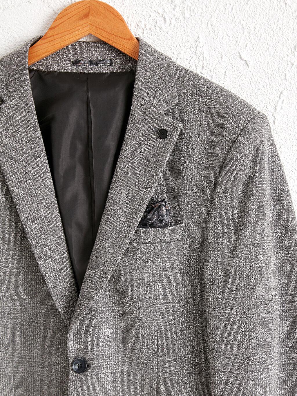Gri Dar Kalıp Blazer Ceket