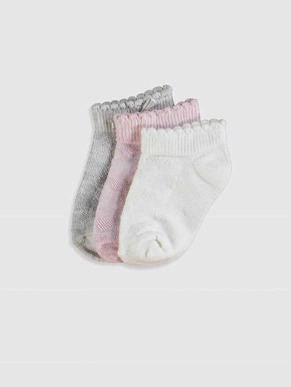 Çok Renkli Kız Bebek Patik Çorap 3'Lü 0W2288Z1 LC Waikiki
