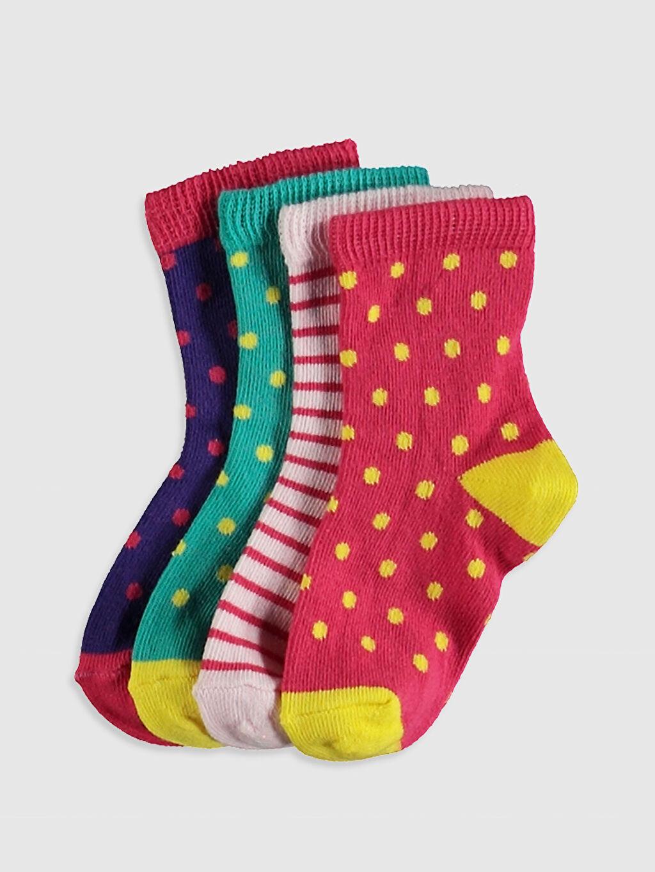 Çok Renkli Kız Bebek Soket Çorap 4'Lü 0W2308Z1 LC Waikiki