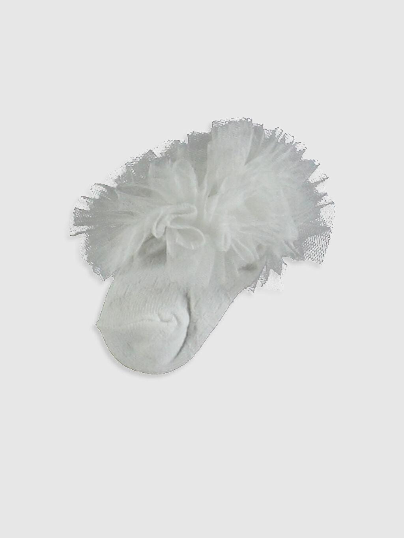 Ekru Kız Bebek Patik Çorap 0W2310Z1 LC Waikiki