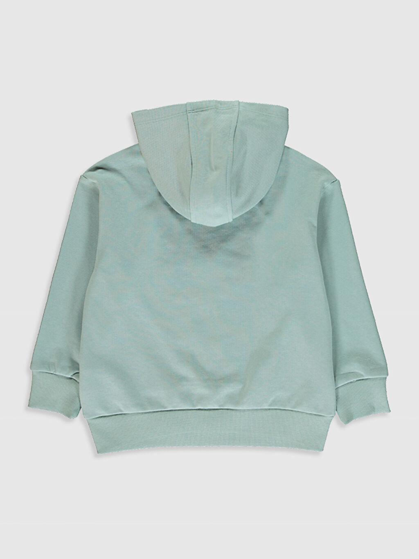 %69 Pamuk %31 Polyester Baskılı Uzun Kol Sweatshirt Kapüşonlu Kız Çocuk Kapüşonlu Sweatshirt