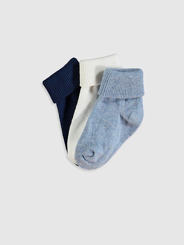 Ekru Erkek Bebek Soket Çorap 3'Lü 0W2462Z1 LC Waikiki