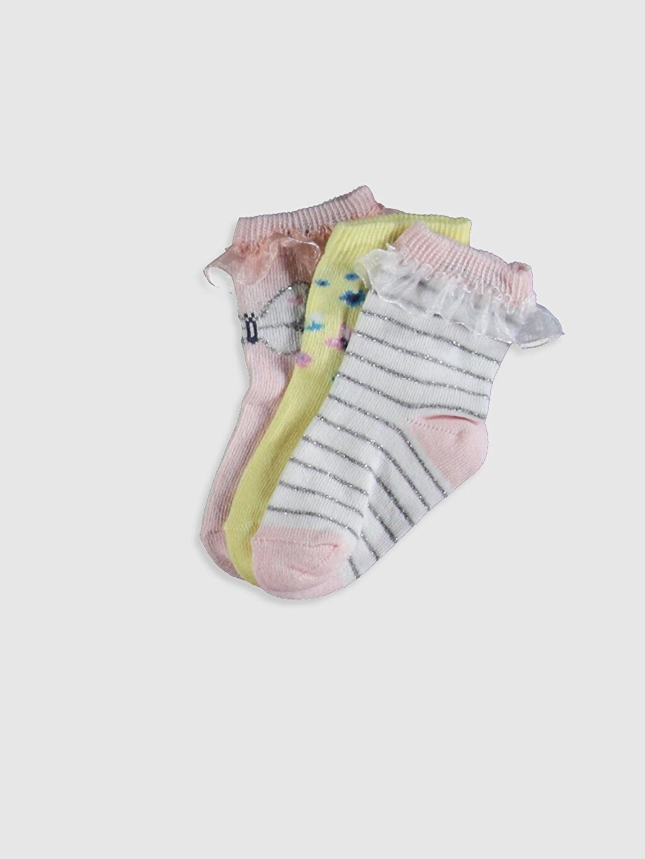 Pembe Kız Bebek Soket Çorap 3'Lü 0W2613Z1 LC Waikiki