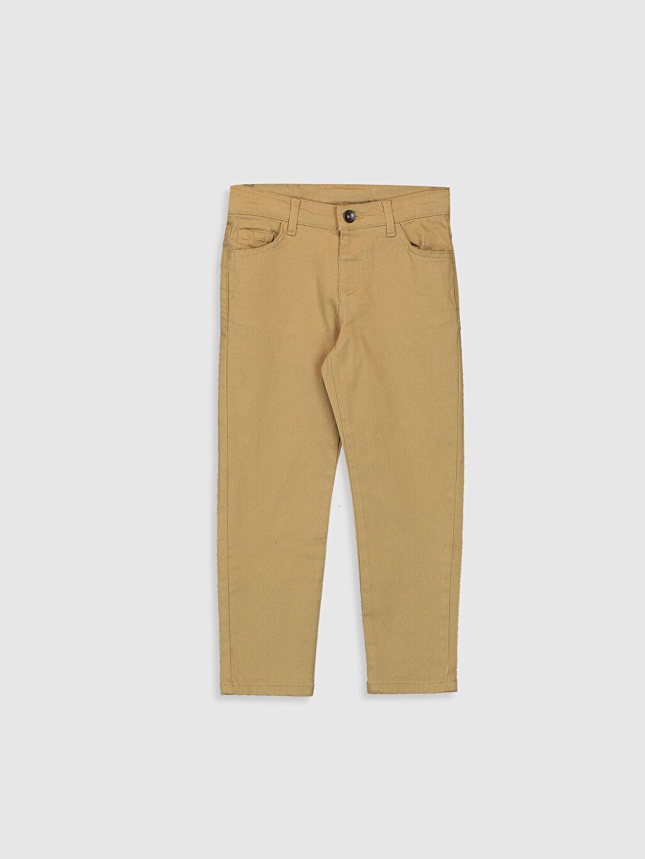 Bej Erkek Çocuk Slim Gabardin Pantolon 0W2747Z4 LC Waikiki