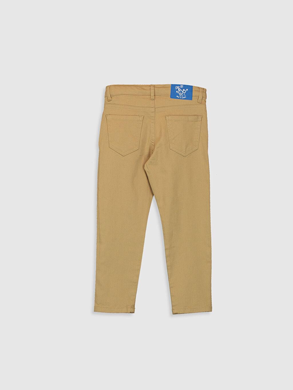 %98 Pamuk %2 Elastan Dar Beş Cep Pantolon Düz Gabardin Erkek Çocuk Slim Gabardin Pantolon