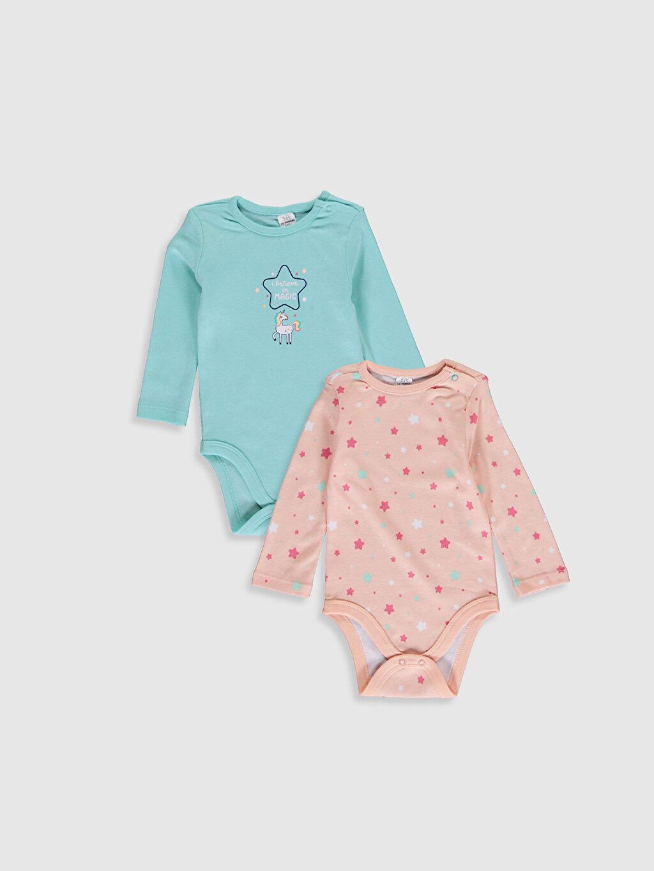 Turkuaz Kız Bebek Pamuklu Çıtçıtlı Body 2'Li 0W2963Z1 LC Waikiki