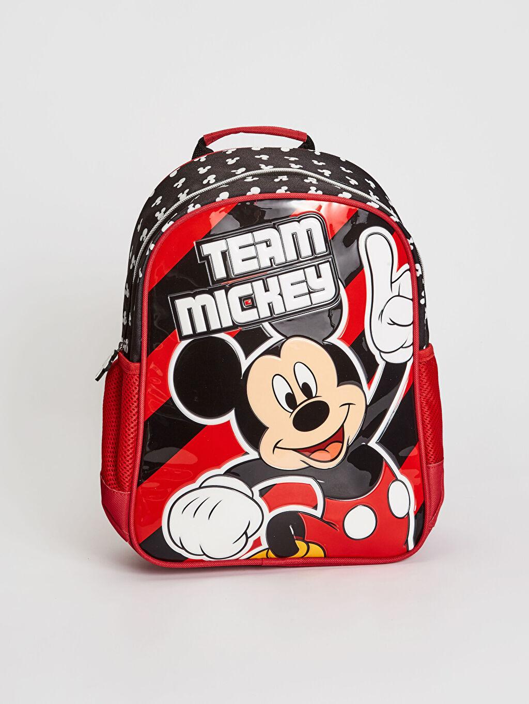 Kırmızı Erkek Çocuk Mickey Mouse Lisanslı Sırt Çantası 0W3700Z4 LC Waikiki