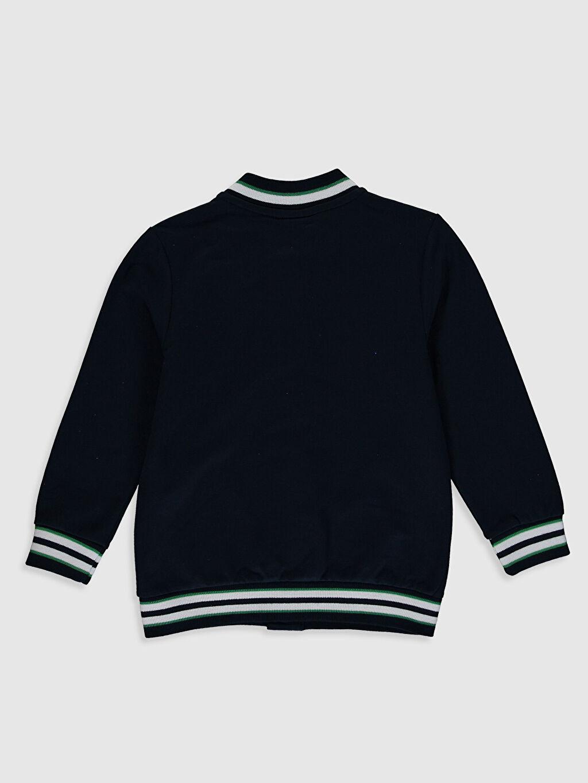 %80 Pamuk %20 Polyester İnce Sweatshirt Kumaşı Uzun Kol Dik Yaka Düz Spor Hırka Erkek Çocuk Baskılı Hırka