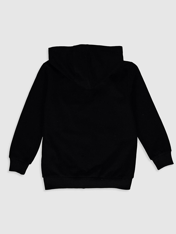 %55 Pamuk %45 Polyester Kapüşon Yaka Uzun Kol Düz Spor Hırka Pike Erkek Çocuk Fermuarlı Kapüşonlu Sweatshirt