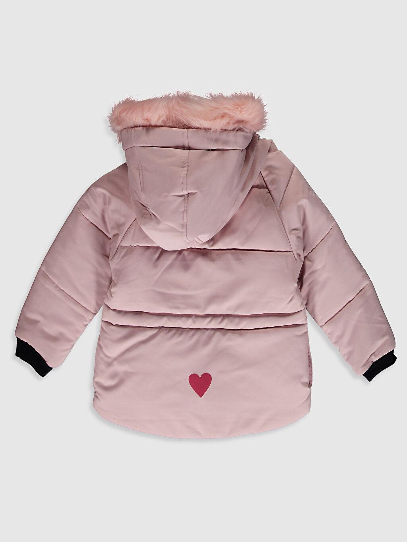 %100 Polyester %100 Polyester Mont Aksesuarsız Polar Astar Düz Midi Kız Çocuk Kapüşonlu Mont